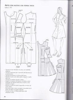 Easy Sewing Patterns, Clothing Patterns, Dress Patterns, Sewing Hacks, Sewing Tutorials, Bodice Pattern, Modelista, Pattern Cutting, Pattern Making