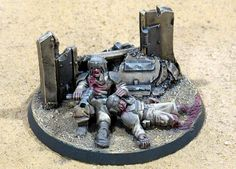 imperial guard diorama - 'the last stand'