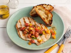 Chicken Paillards With Herb-Tomato Salad from FoodNetwork.com