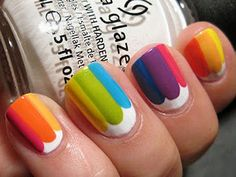 17 Crazy-cute Diy Nail Art Designs For Girls - Over The Rainbow - Good Nail Designs For Kid/teen Nails