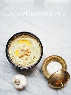 My favorite hummus recipe // Avec Sofié Best Hummus Recipe, Tahini, Delish, Good Things, Blog, Eat, Healthy, Ethnic Recipes, Sauces