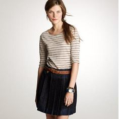 3/4 blouse, with skirt or shorts