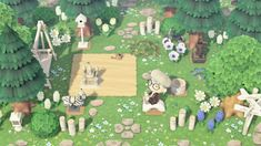"""""""updated these areas to the light theme i'm keeping throughout my island! Forest Theme, All About Animals, Animal Crossing Game, Island Design, New Leaf, Zebras, My Animal, Animal Kingdom, Paths"""