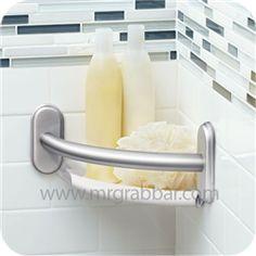 Designer Grab Bar With Integrated Corner Shelf Moen Lr2354dch