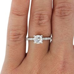 solitaire diamond engagement ring from A.Jaffe in white gold