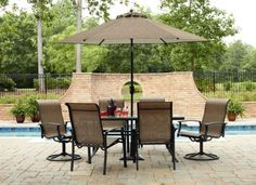 Outdoor Furniture 7 Piece Dining Set
