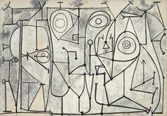 Pablo Picasso / The Kitchen (La cuisine) / November 9, 1948 / Oil on canvas