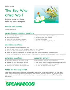 Honesty:  Lesson Plans on The Boy Who Cried Wolf | Speakaboos Worksheets