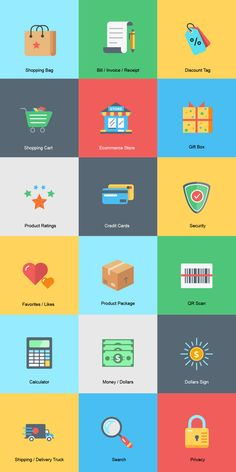 Free Ecommerce Icons   .AI, .EPS, .SVG, .PDF (1.1 MB)   graphicsfuel.com   #free #vector