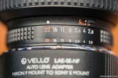 Adaptador Opticas Nikon a Sony E mount