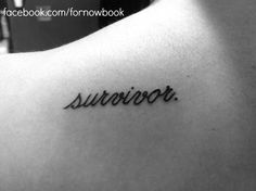 Domestic abuse survivors. #SurvivalTattoo