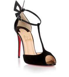 Black suede and nappa leather sandal from Christian Louboutin.