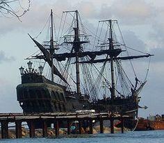 La Perla Negra o Black Pearl, navío pirata de la película Los Piratas del Caribe