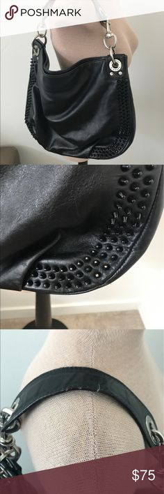 Rebecca minkoff  luscious studded hobo purse In good condition. Has wear on handles, and some of the studs. Missing long strap Rebecca Minkoff Bags