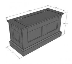 DIY Storage Bench for Breakfast Nook - i like the detailing on the front and sides - love the storage!