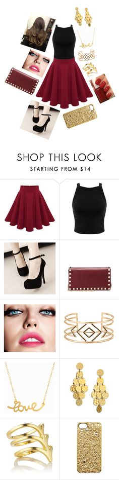 """Untitled #40"" by rebecca-a-roberts ❤ liked on Polyvore featuring Miss Selfridge, Valentino, Maybelline, Essie, Stella & Dot, Minnie Grace, Stephanie Kantis, Smith/Grey and Marc by Marc Jacobs"