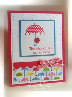 2012 Spring Catalog - Rain or shine stamp set, Cloudy Day TIEF, Striped Organdy Ribbon, Boho Blossom Punch    Me, My Stamps and I: Rain or Shine