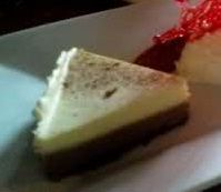 White Chocolate Cappuccino Cheescake served at Akershus Royal Banquet Hall In EPCOT at Disney World