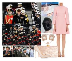 """""""Attending a celebration for the 350 year anniversary of the Royal Dutch Marines"""" by pompcircumstance ❤ liked on Polyvore featuring Rachel Trevor-Morgan, BERRICLE, Chaumet, Valentino, Edie Parker, Sergio Rossi and Anabela Chan"""