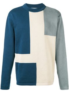 Shop Études block design sweater.