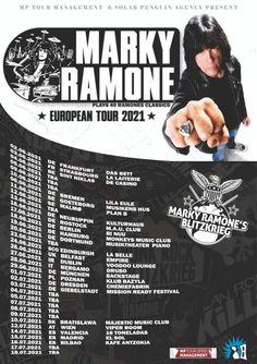 Marky Ramone 2021 conciertos en España: European Tour European Tour, Ramones, Strasbourg, Punk Rock, Tours, How To Plan, Random, Blog, Vinyl Records