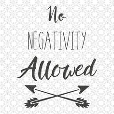 No Negativity Allowed, SVG cutting file, Best Friends Svg, Cute Svg, Friendship Svg, PNG, EPS, Dxf, Cut Files, Clip Art, Print, Svg, by SVGEnthusiast on Etsy