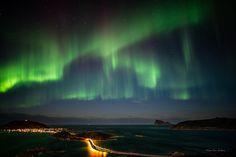 Hillesøy, Sommarøy and Håja illuminated by Aurora