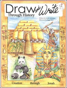 Draw and Write through History: Creation through Jonah - By: Carylee Gressman We have been enjoying the early books in this series. They compliment our ancient history lessons as well as CC Cycle 1 beautifully. My Father's World, Story Of The World, History Books, Art History, History Class, Tower Of Babel, Homeschool Curriculum, Homeschooling, Mystery Of History