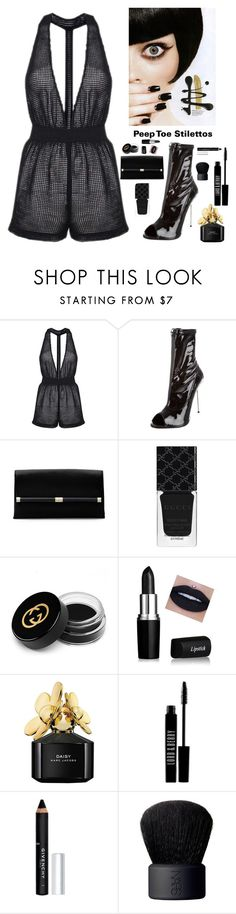 """""""Peep Toe Stilettos"""" by kotnourka ❤ liked on Polyvore featuring Topshop, Giuseppe Zanotti, Diane Von Furstenberg, Gucci, Marc Jacobs, Lord & Berry, Givenchy and NARS Cosmetics"""