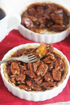 Pecan Pie Tarts by @lexiscleankitchen #paleo (sub palm shortening or lard for butter to make diary-free)