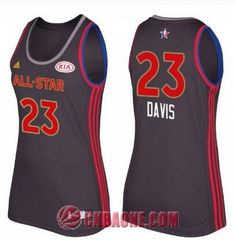 Camisetas NBA mujer negro  23 Anthony Davis 2017 All-Star Game Baloncesto 7a92a6ee1f4