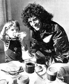 Brian May of Queen and his son Jimmy
