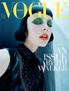 Vogue Italia December Issue - An issue by Tim Walker featuring Eddie Campbell