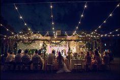 The Powel Crosley Estate Sarasota, FL/ Edison Lights/ Outdoor wedding Reception click here and check out our website: http://www.djdayve.com/  Photo Credit: Marilyn Castorina Venue: Powel Crosley Estate