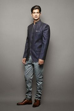 Navy Blue Band Gala suit