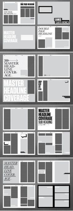 Magazine layout