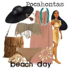 """Pocahontas - Beach Day"" by marybethschultz on Polyvore"