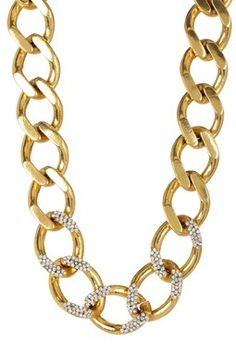 Gold Pave Link Necklace