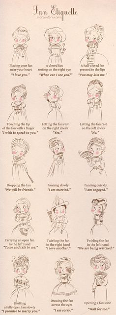 The secret language of fan. Adorable and informative!