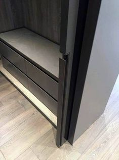 Modern Black Bedroom Closet Pocket Door Design Inspiration - July 13 2019 at Pocket Door Handles, Pocket Doors, Pocket Door Hardware, Black Bedroom Design, Bedroom Door Design, Door Detail, Bedroom Doors, Internal Doors, Modern Interior Design