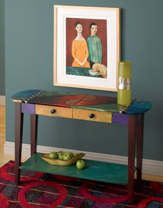 Oval Sofa Table by Wendy Grossman (Wood Table)   Artful Home