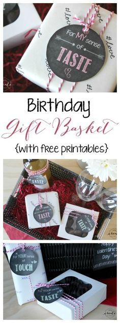 Ignite Your Senses Chalkboard Printables - Love Create Celebrate. Perfect gift for a husband, wife, boyfriend or girlfriend on their birthday!