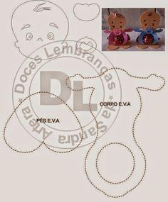 ARTESANATO COM QUIANE - Paps,Moldes,E.V.A,Feltro,Costuras,Fofuchas 3D: molde porta bombom para lembrança de chá de bebê ou maternidade