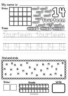 Numbers 1-50 Worksheet Set | Preschool math, Math numbers ...