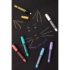 Forever21 Ooly Metallic Gel Crayons (£10) ❤ liked on Polyvore featuring beauty products, makeup, eye makeup, forever 21 makeup, forever 21 and forever 21 cosmetics