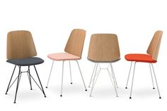the designer uses reinforced rods in the base of the seating, which creates a simple geometric shape upon the design.