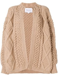 I Love Mr Mittens chunky-knit wool cardigan - Brown I Love Mr Mittens, Tie Styles, Wool Cardigan, Cardigans For Women, World Of Fashion, Cable Knit, Women Wear, Clothes For Women, Knitting