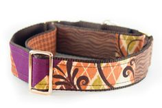 Martingale Dog Collar Brown Collar Fabric Dog Collar by PuppyRiot