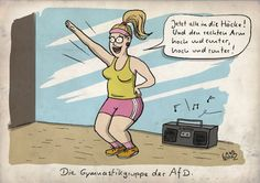 """Cartoon von Dorthe Landschulz in der Satirerubrik """"Spam"""" auf Spiegel Online"""