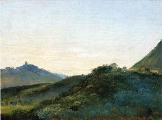 François Marius Granet italian hills dawn